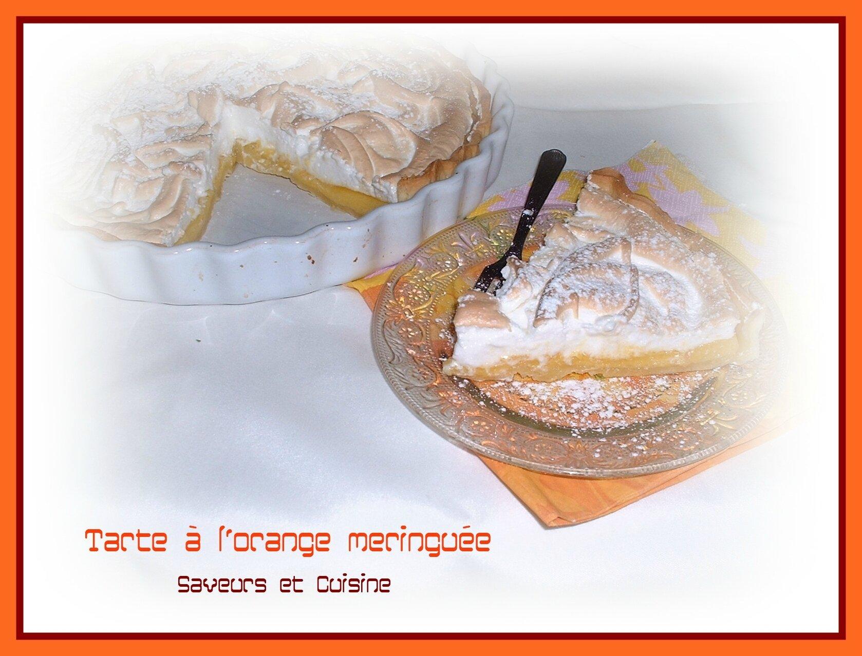 Tarte à l'orange meringuée et sa pâte sablée à la cannelle