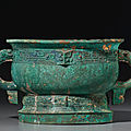A bronze ritual food vessel, gui, early western zhou dynasty, 11th-10th century bc
