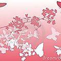 papillons et branches