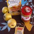 Dessert à base de pommes et feuilletines