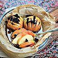 Pommes hasselback à la vanille et cranberries {hasselback apples}