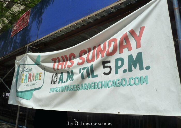 99 Blog Vintage Garage Chicago North Brodway Brocante Pancarte