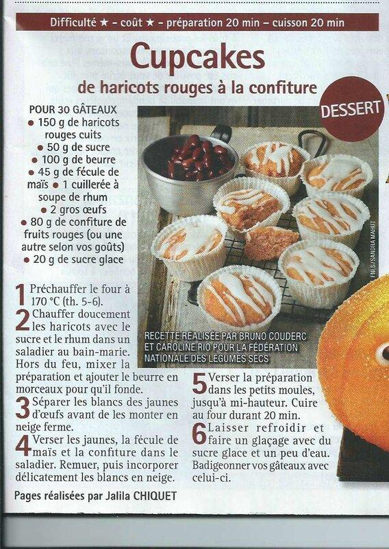 Cupcakes haricots rouges à la confiture