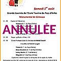 Epta - samedi 1er août à la monumental de gimeaux... annulé