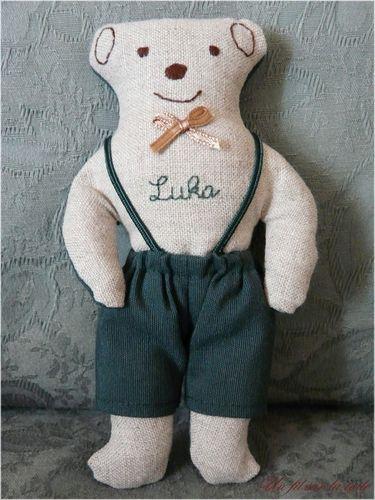 2008 02 - L'ourson Luka, patron De fil en aiguille