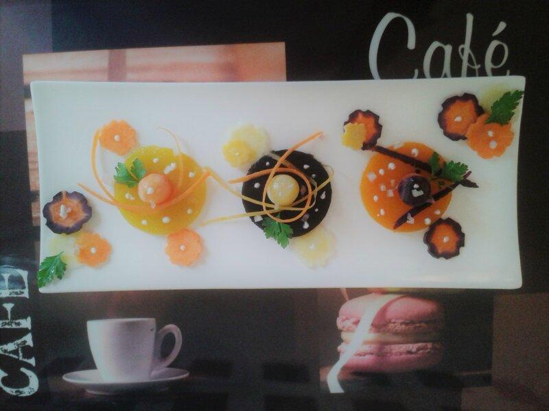 Salade de carottes revisitée du chef Custos ( entrée de fêtes ) VERSION 2