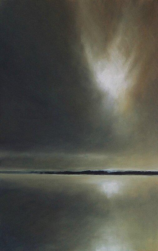 horizon elevation 40, nov 2015, pastel 32 x 48 cm