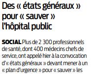 2019 09 23 SO Des états généraux pour l'hôpital public