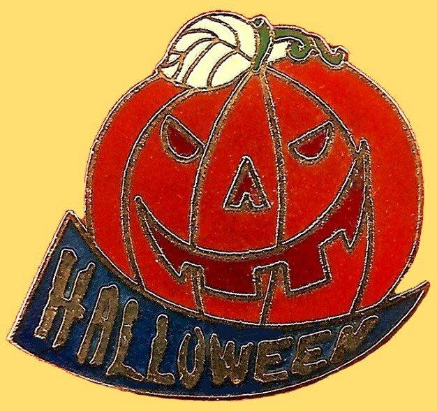 Pin's Halloween Citrouille
