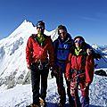 au sommet avec le Weisshorn en arrière plan