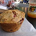 Muffin cramberry/pomme