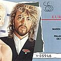 Eurythmics - mardi 25 novembre 1986 - pop bercy (paris)