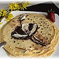 Crepes aux 2 chocolats