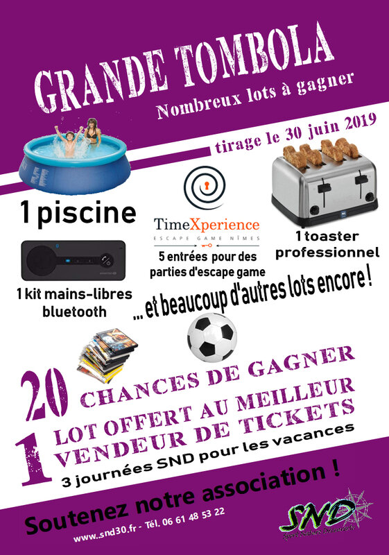 affiche tombola 2019