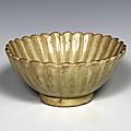 Chrysanthemum Petal Shaped Bowl, Vietnam, Trần dynasty (1225–1400)