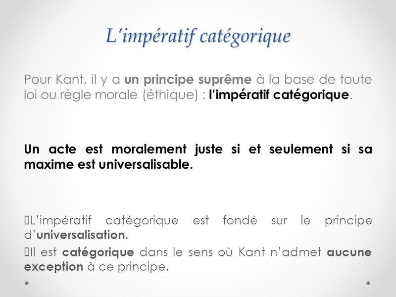 L'impératif+catégorique