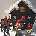 Maison Père Noel et lutins