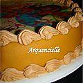 Gâteau Winx, détail travail poche à douilles