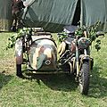 Motos allemandes side-car bmw r-75 et zundapp ks-750.