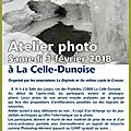 Atelier photo a la celle dunoise