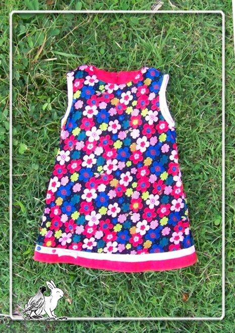 robe velour fleurs