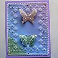 mars 2017 (5) d'après un modèle de Christine Coleman sur PC de juin 2014 sur lequel j'ai ajouté 2 papillons faits avec la grille n° 17