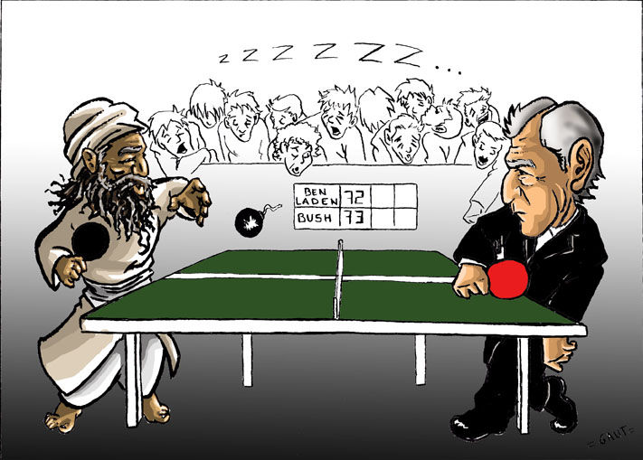 Laden vs Bush (cartoon)