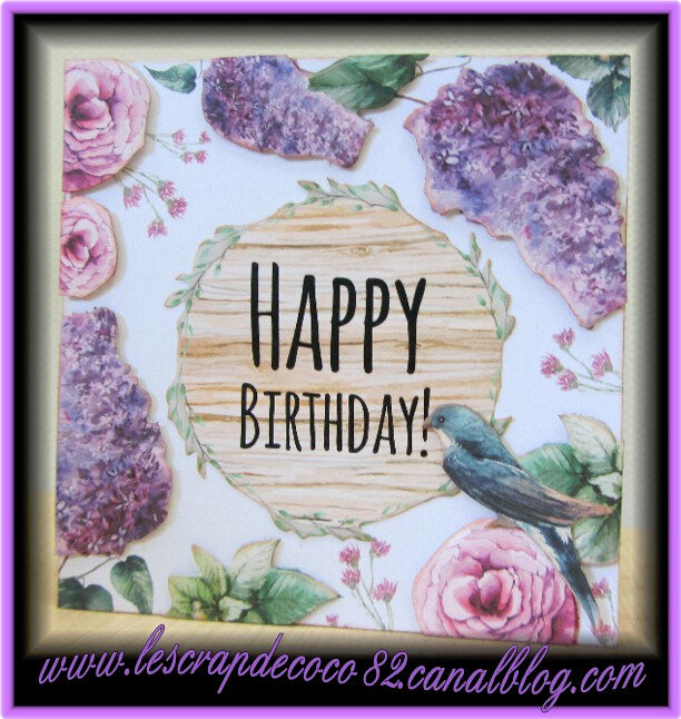 Carte 3d Happy Birthday Pour Emma Le Scrap De Coco82
