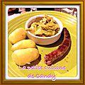 Fondue de poireaux curry/vache qui rit
