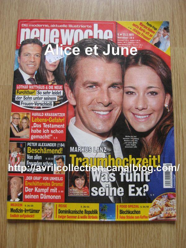 Neue Woche magazine (25 février 2011)