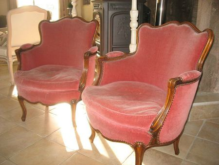 fauteuil rose