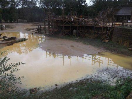 Un chantier gorgé d'eau