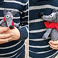 Doudou Animal Crochet - Fait main - Mister Loup (1)