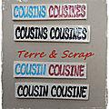 Les cousine et cousins