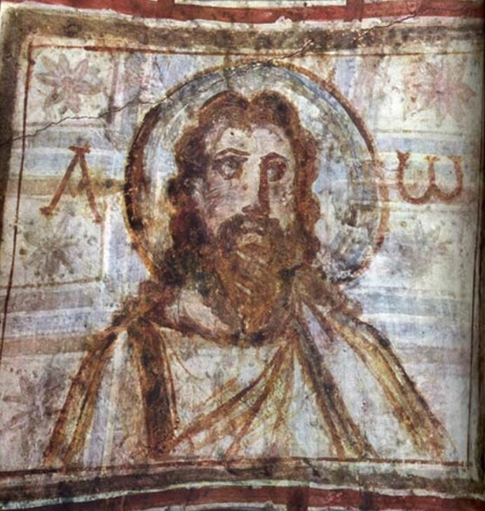 Christ Alpha et Omega, catacombes de Commodille, fin du IVe s