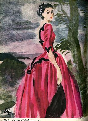 Balenciaga. Dessin Robe Infante