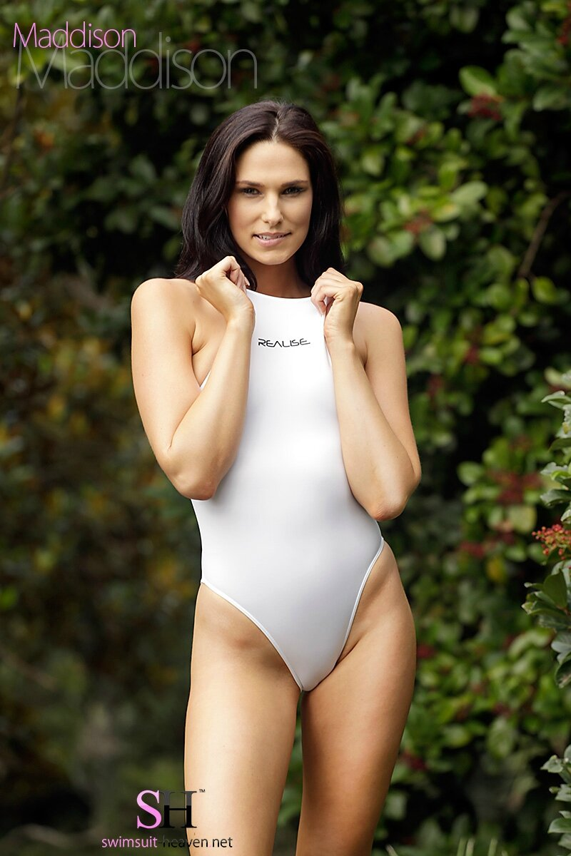 Maddison in Realise N-011 White for Swimsuit-heaven.net