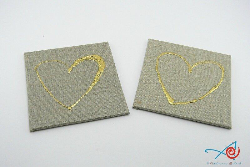 2 Coeurs sur cartons toilés lin (Copier)