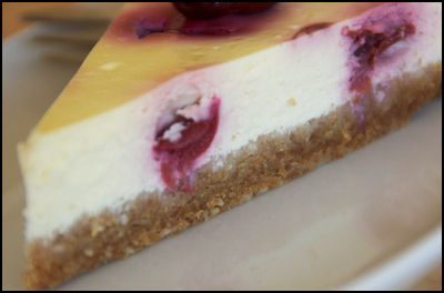 Cheesecake_amandes_griottes_1