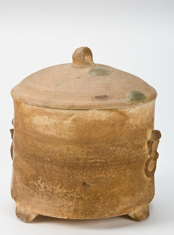 Tripod vessel with lid, Vietnam, Hán Việt period, 2nd-3rd century