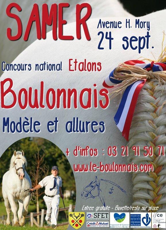 Affiche Concours des Etalons Boulonnais 2016