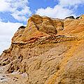 Les falaises de la mine d'or