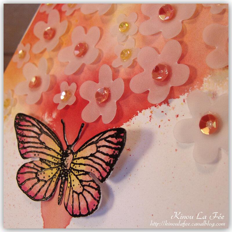 Carte Brusho Papillon Fête des Mères 4