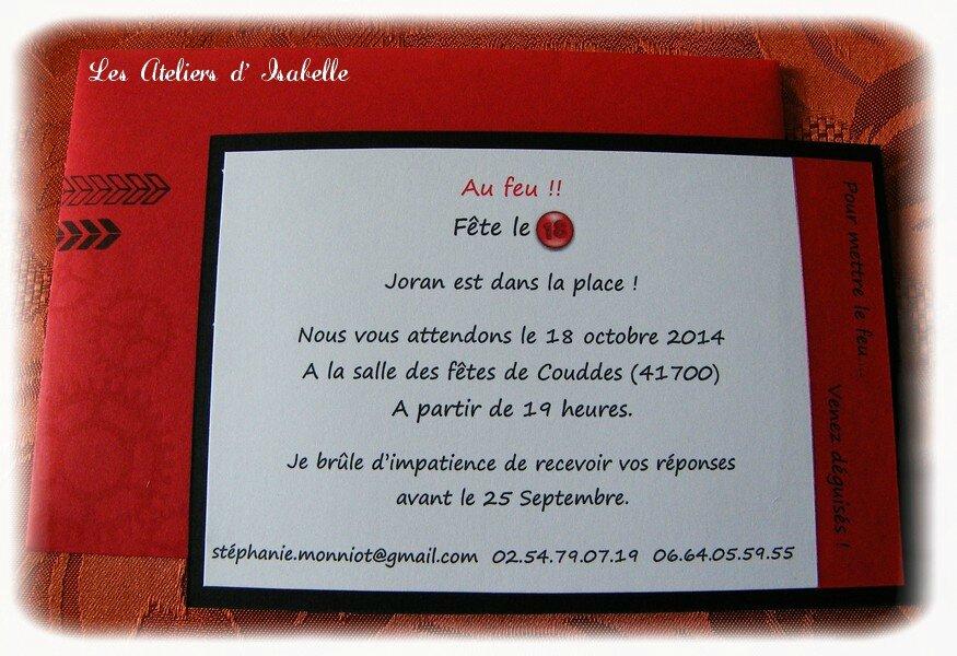 Invitations Anniversaire 18 Ans Theme Pompier Ma P Tite Fabrique