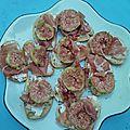 Tartin'apéro : jambon, figue, chèvre frais