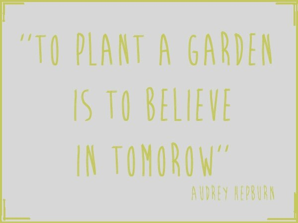 To Plant a garden is