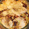 Gratin de ravioles aux poireaux