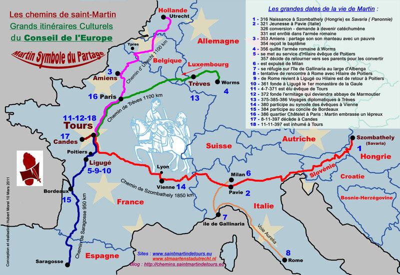 Les chemins de Saint-Martin – Via Sancti Martini