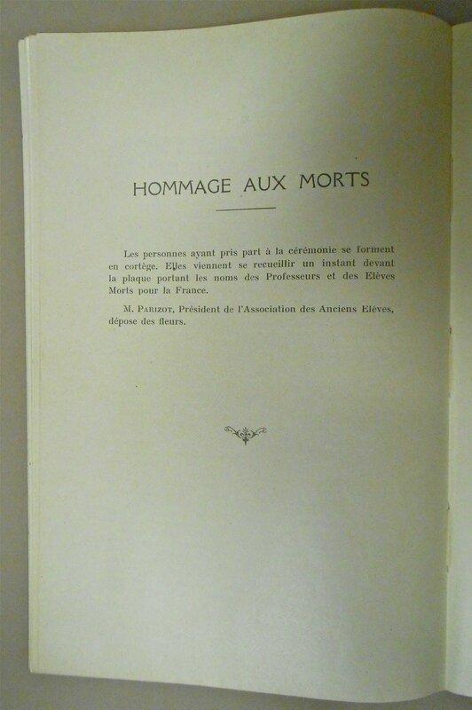 hommage aux morts 1929