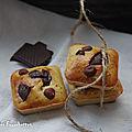 Fondants bananes noisettes chocolat